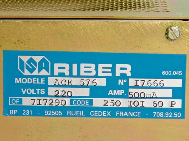 Riber ACE 576 N E-Gun Power Supply for Analytic Chamber