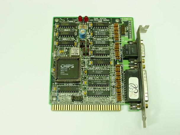 Packard Bell 8 Bit Short ISA Dual Serial Printer I/O Board 181-7599-10