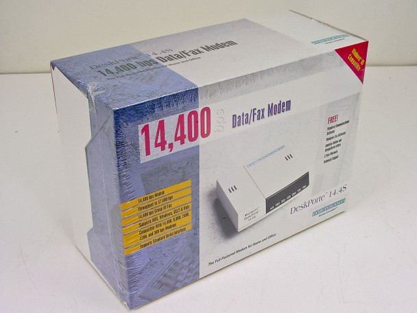 Microcom DeskPorte 14.4S 14,400 bps Modem New in Box 103603006A