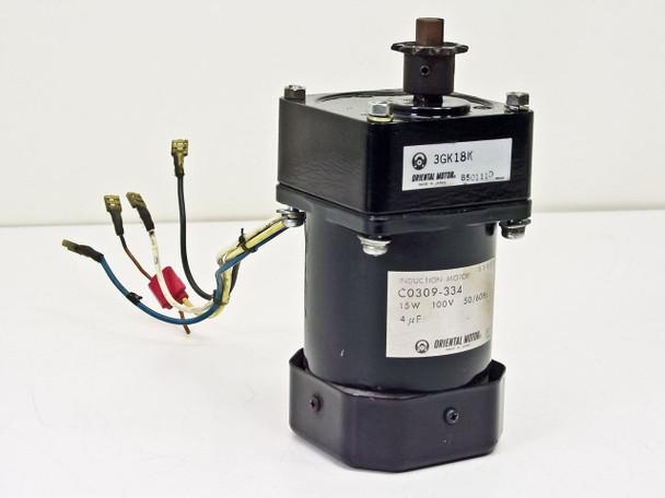 Oriental Induction Motor 15W 100V 50/60Hz w/ 3GK18K Gear He C0309-334