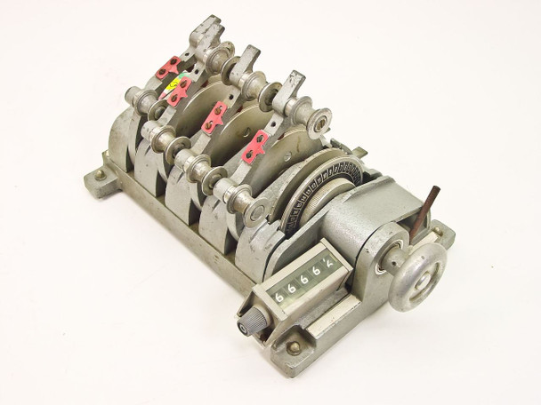 Hollywood Film Company 4 Gang 16mm Film Synchronizer with Counter (SPEC)