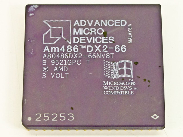 AMD  486 DX2 66Mhz Processor A80486DX2-66NV8T