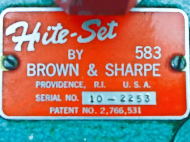 Brown & Sharpe 583 Hite-Set