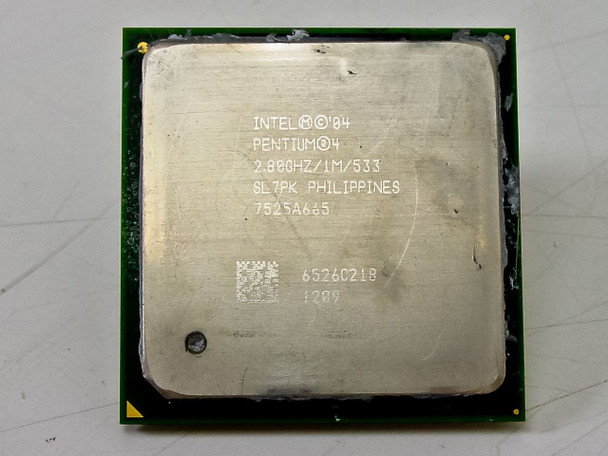 Intel 2.8Ghz Socket 478 1MB 533Mhz FSB P4 CPU (SL7PK)