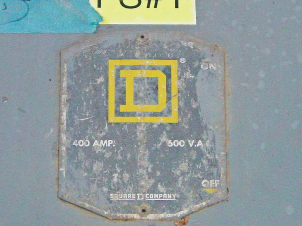 Square D H365 400 Amp 3 Phase Single Throw Fusible Safety Switch *AS-IS* Bad Lug