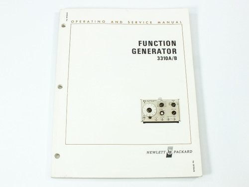 HP 3310A/B Function Generator Operating and Service Manual