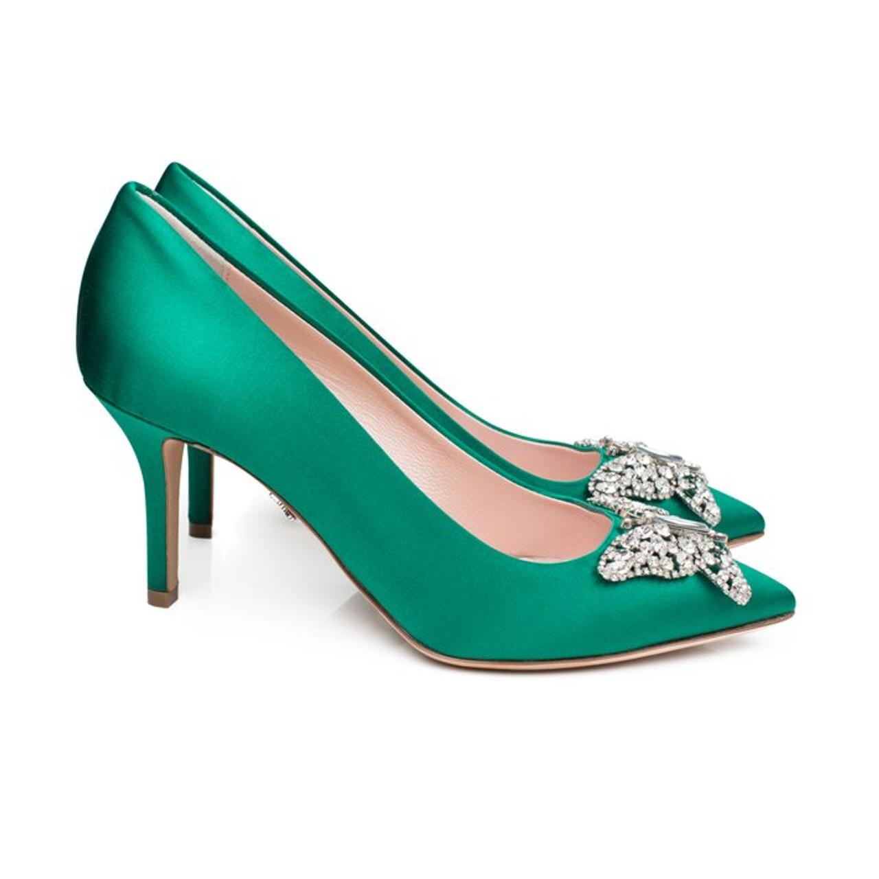Emilia Farfalla Stiletto Emerald Green