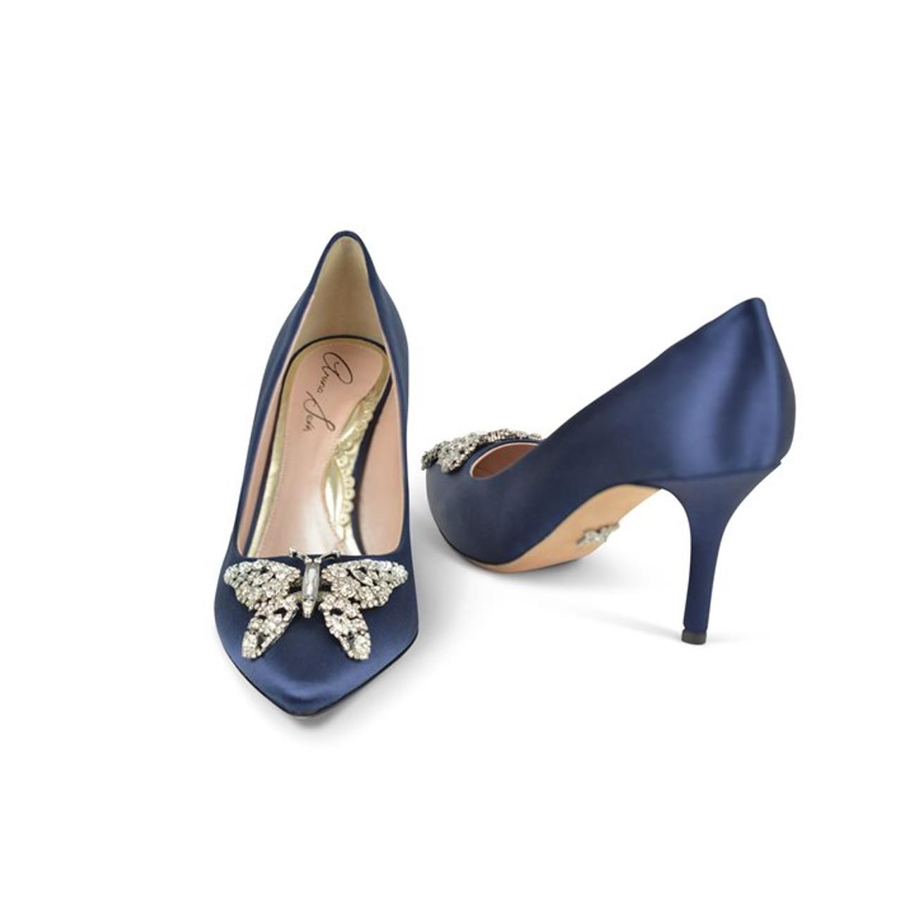 Emilia Farfalla Stiletto Navy Blue