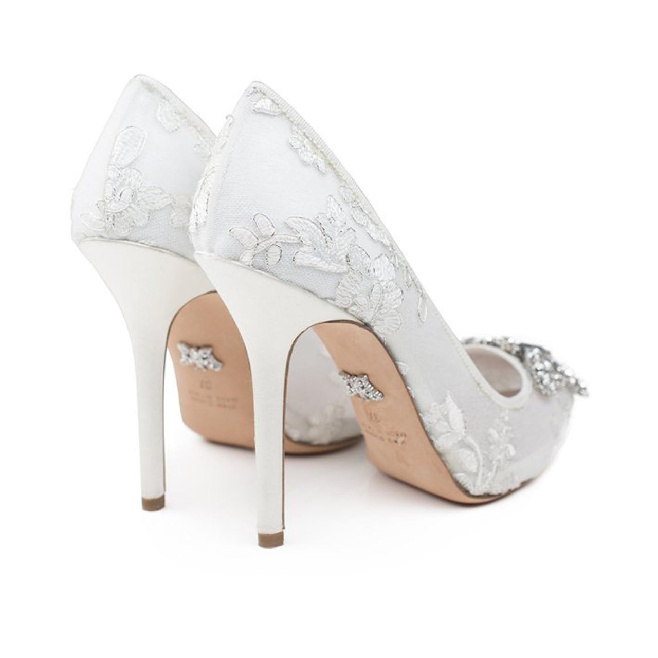 April Farfalla Stiletto Ivory Lace