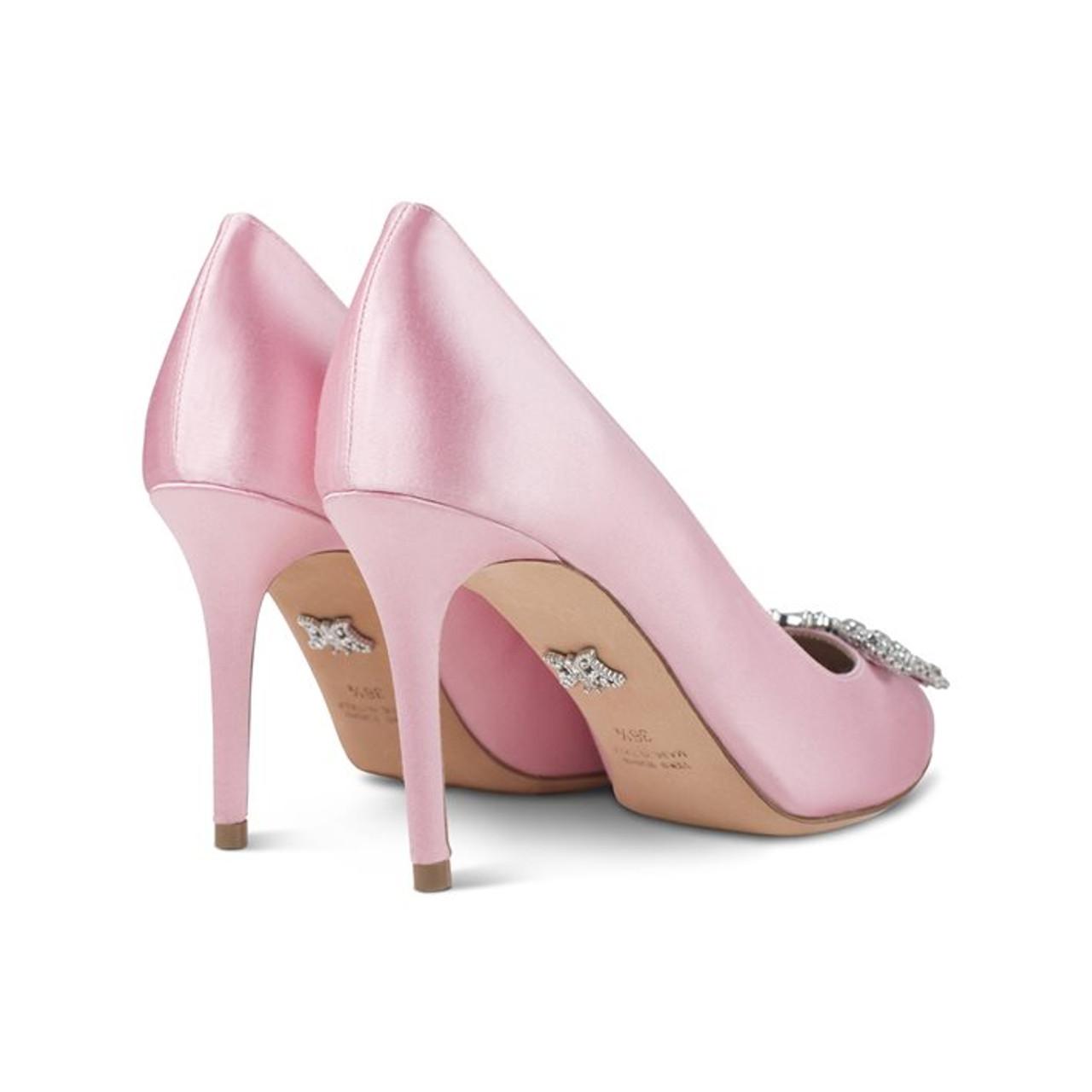 Sophia Round Toe Baby Pink Satin