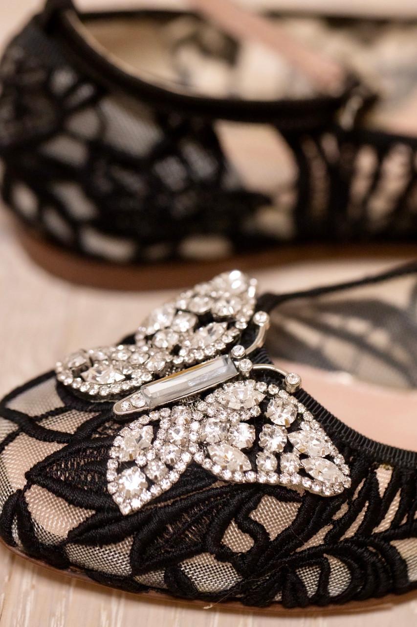 Anais Black Lace Ballerina