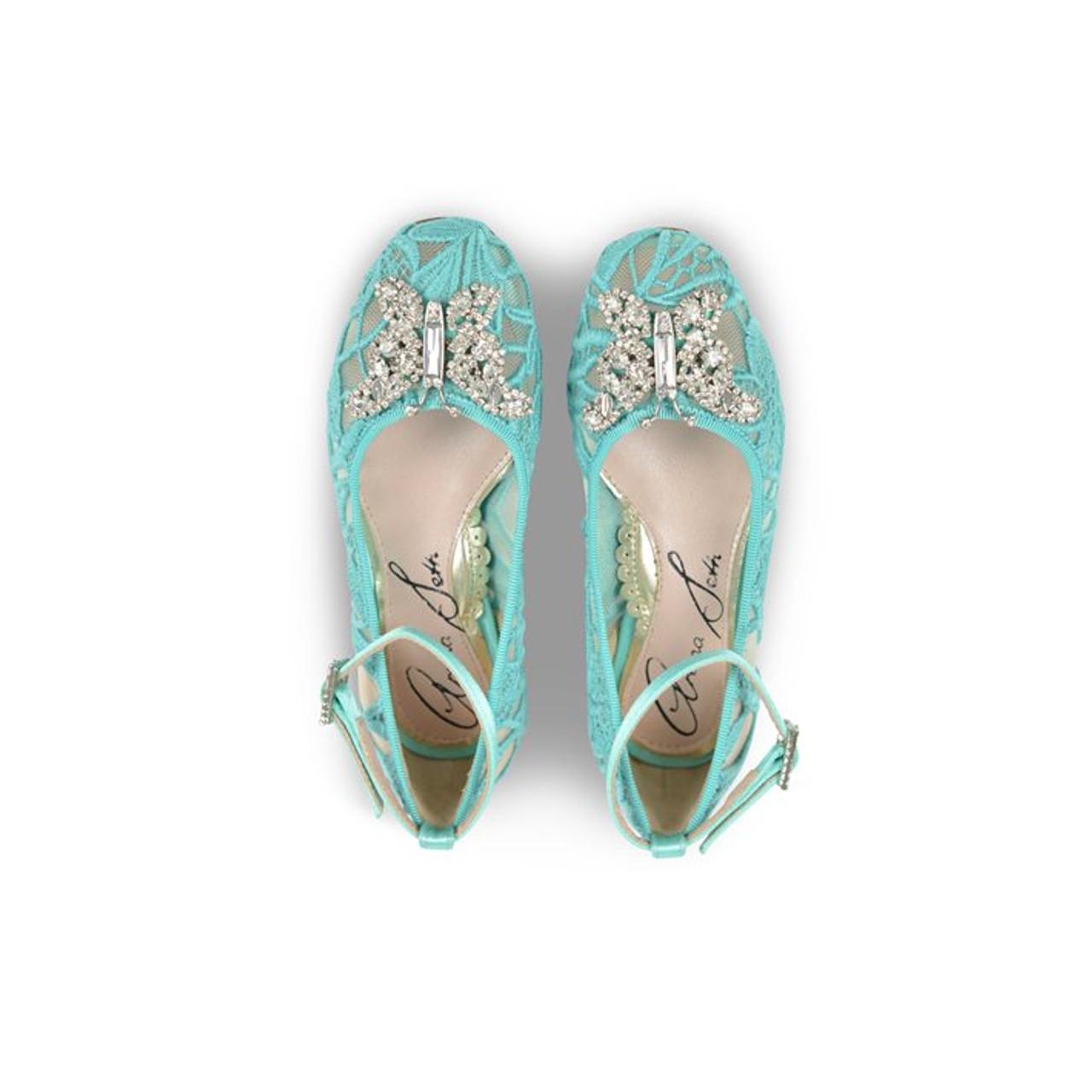 Anais Tiffany Blue Lace Ballerina