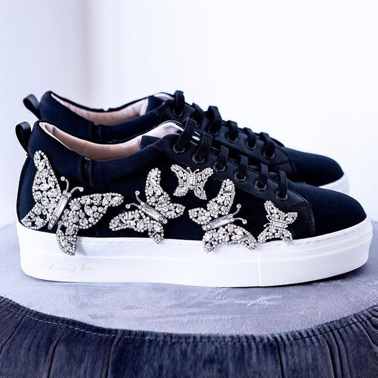 Jet Black Neoprene Sneakers