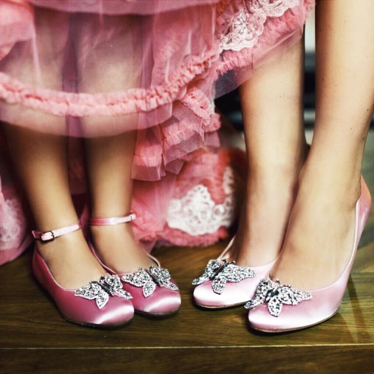 Ava Open Toe Baby Pink Satin 70mm