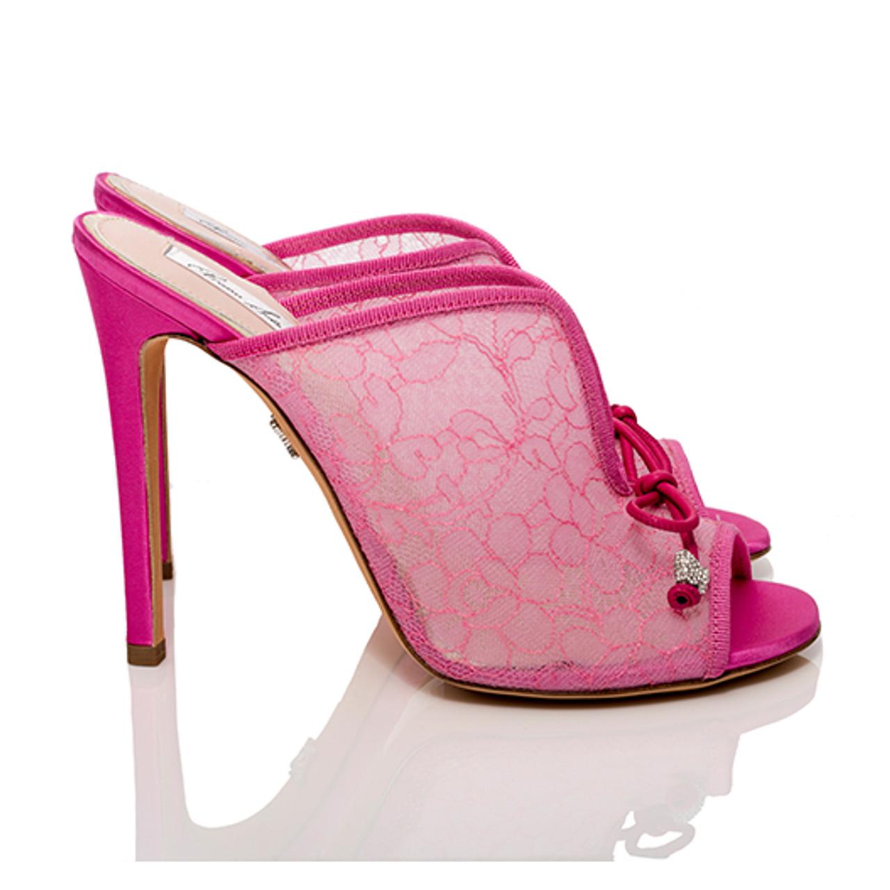 Amalfi Hot Pink Mule