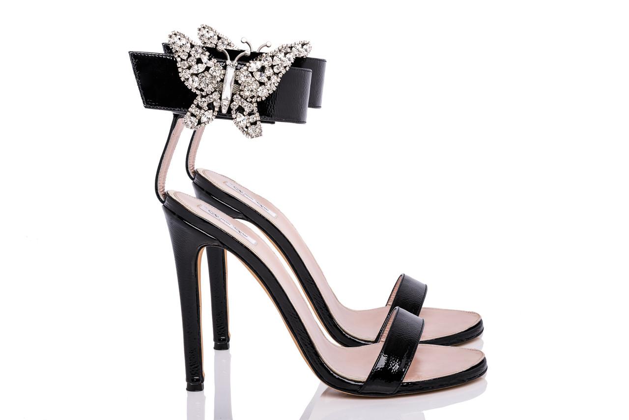 Portofino Embellished Black Heel Sandals