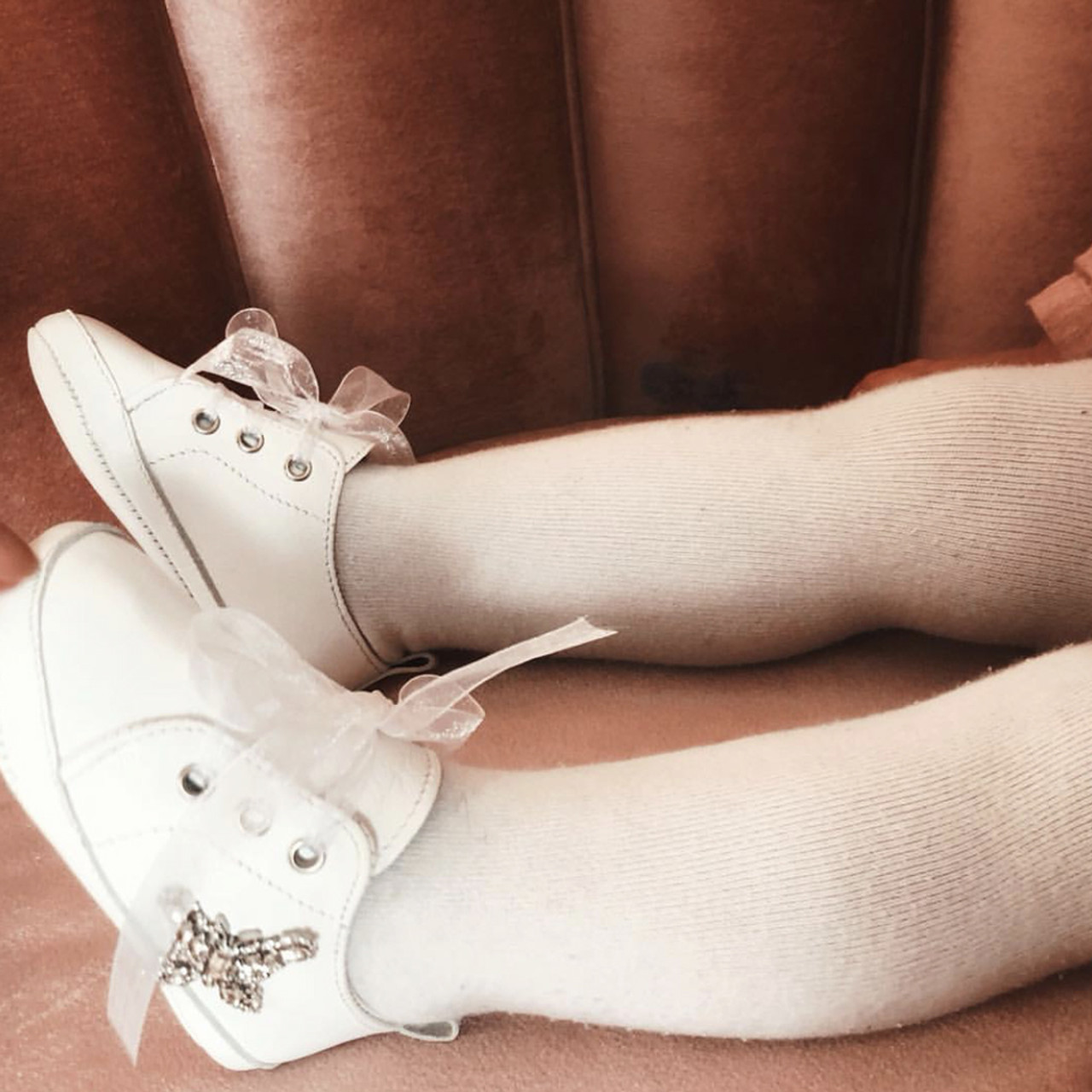 Baby Rocket White Leather Sneaker