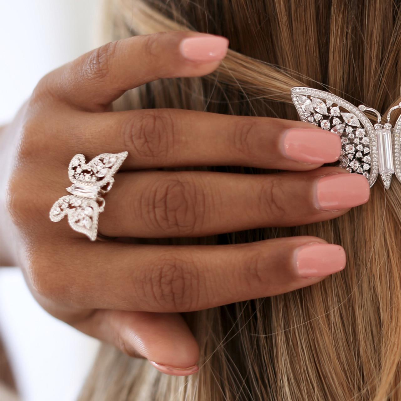 Butterfly Swarovski Ring