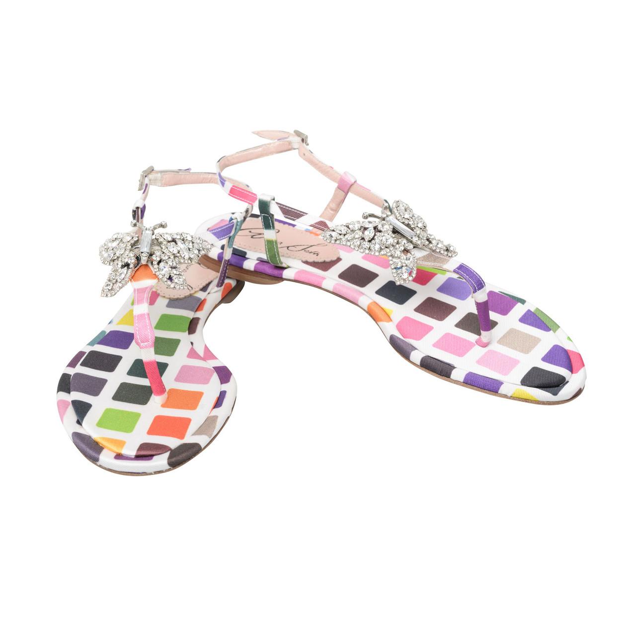Capri Rainbow Rani Couture Farfalla Sandals