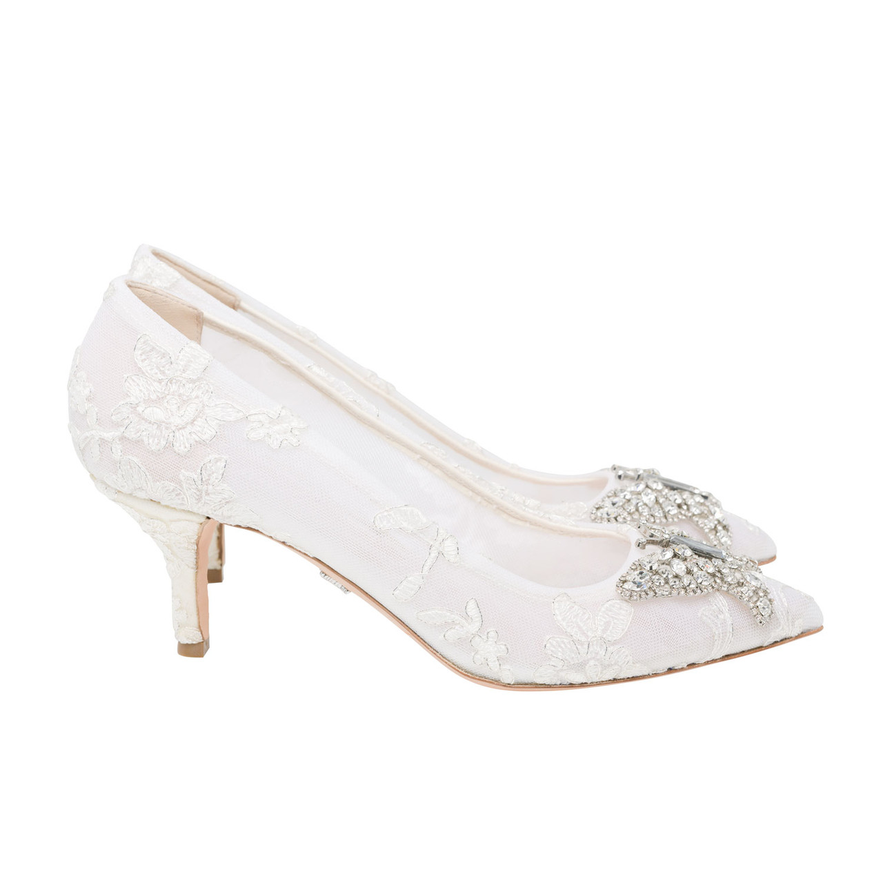 Grace Pointed Toe Ivory Lace