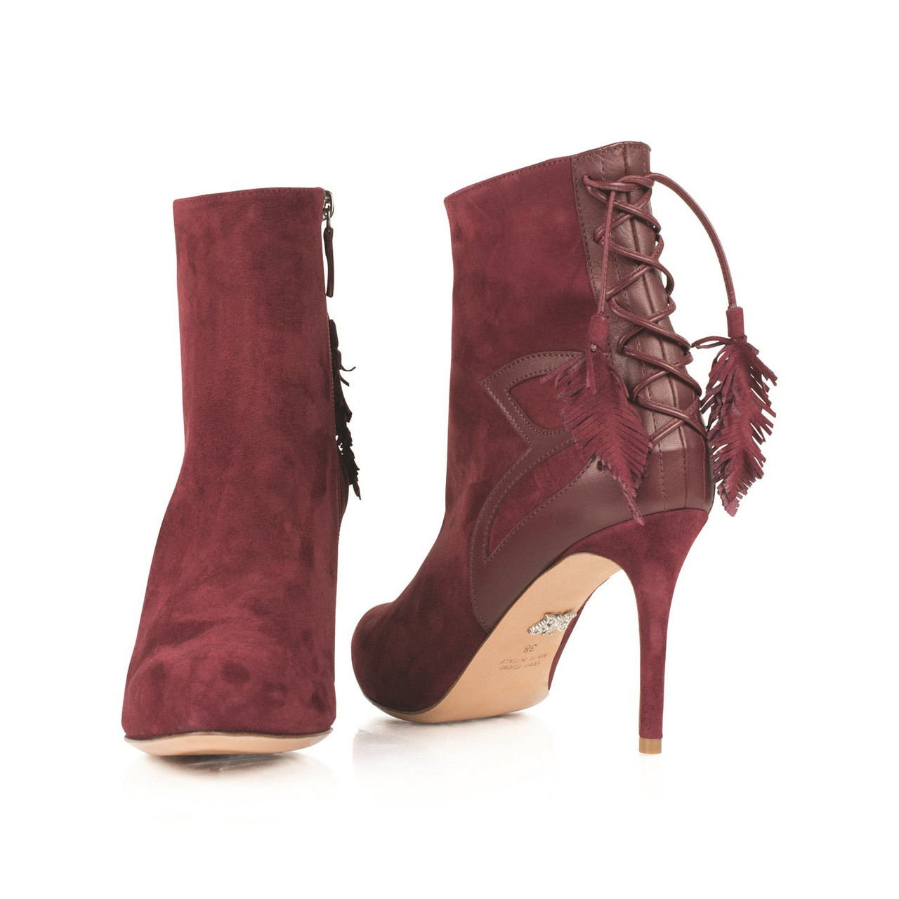 Aperto Ankle Boot Burgundy Suede