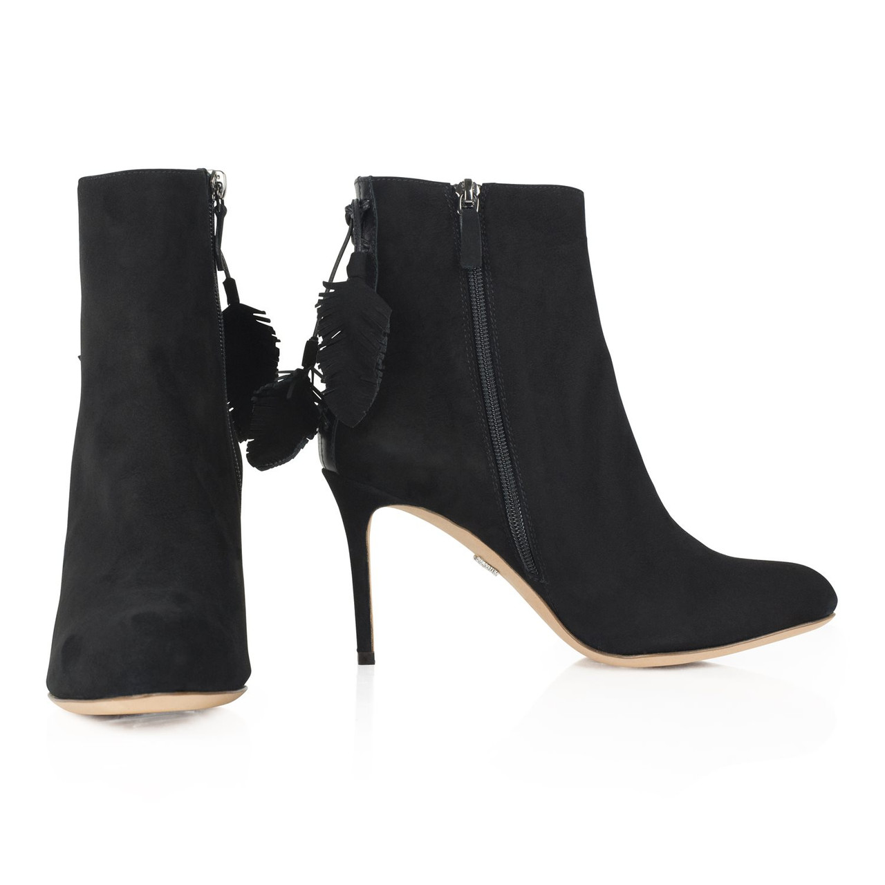 Aperto Ankle Boot Black Suede