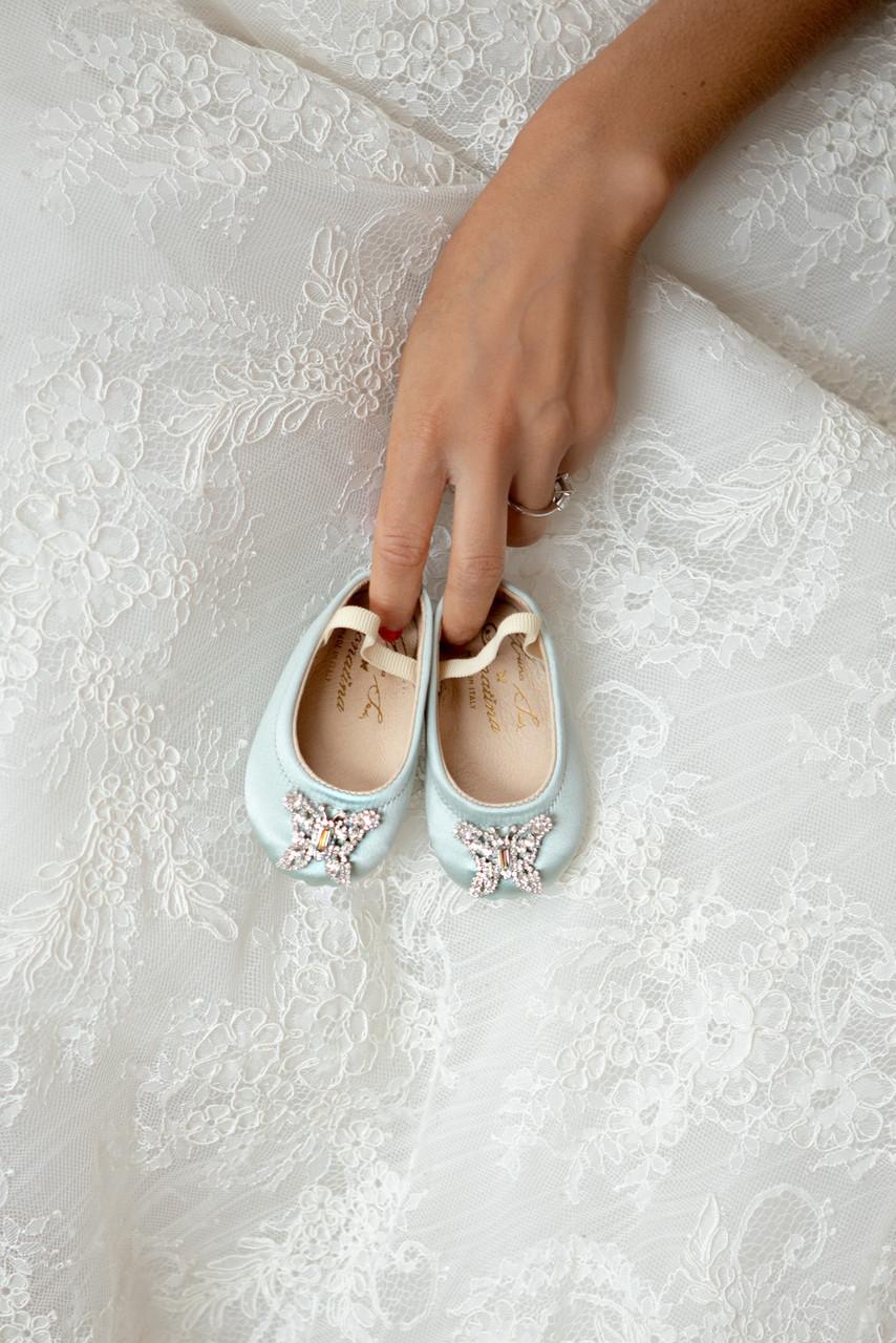 Odette Dove Blue Baby Shoes