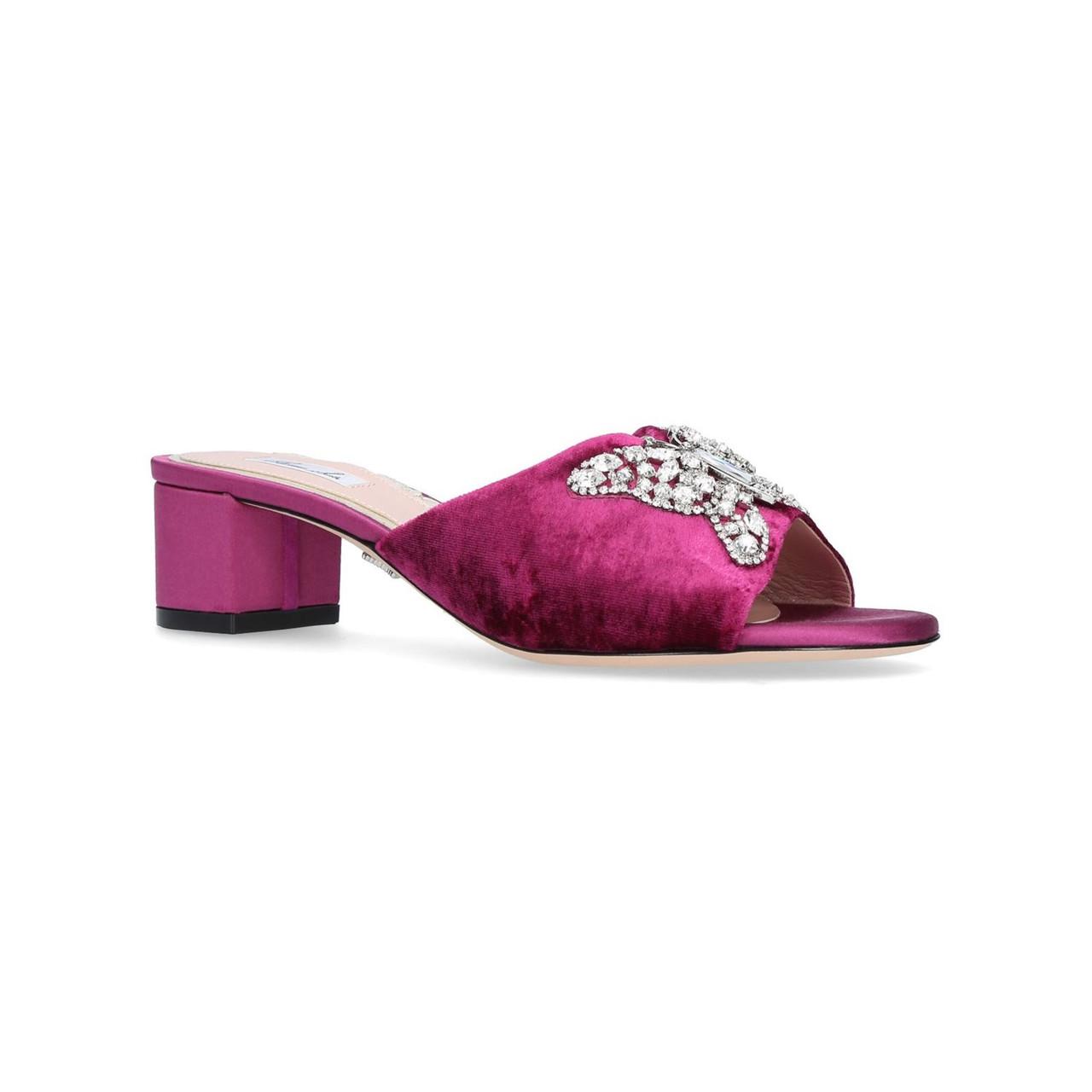 Angela Mule Pink Ruby Velvet