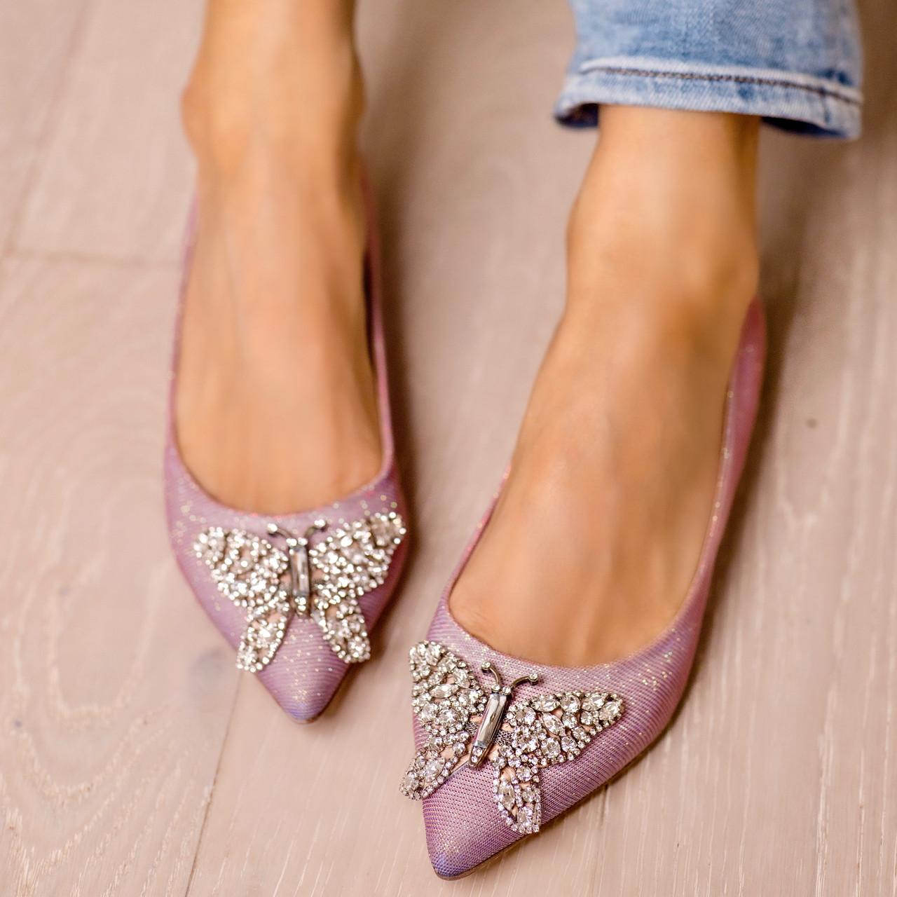 Eliana Ballerina Flat Pointy Pink Notturno