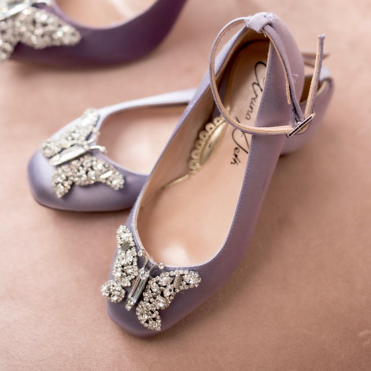 Farfalla Lilac Satin Ballerina
