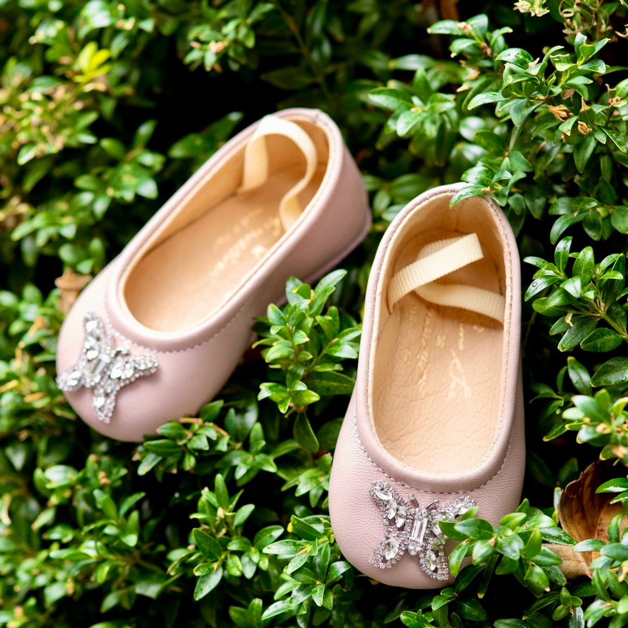 Odette Baby Soft Pink Leather Shoes