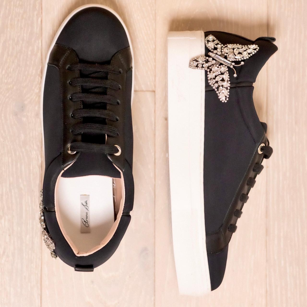 Rocket Black Neoprene Sneakers