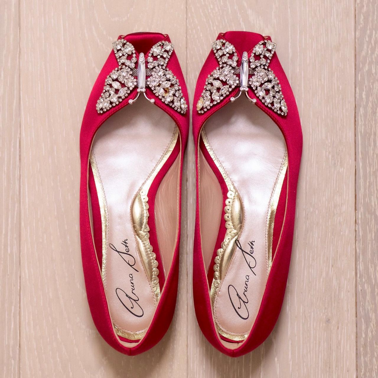 Liana Ballerina Cherry Red Satin