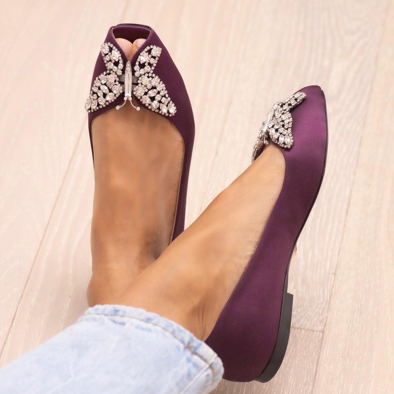 Liana Ballerina Imperial Purple Satin