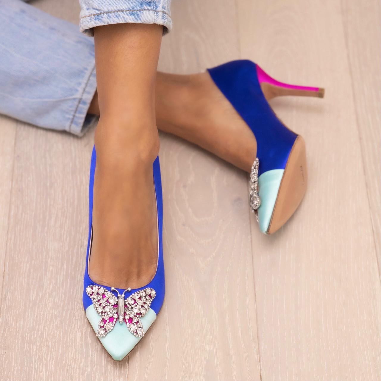 Emilia Farfalla Stiletto Two Tone Cobalt Blue