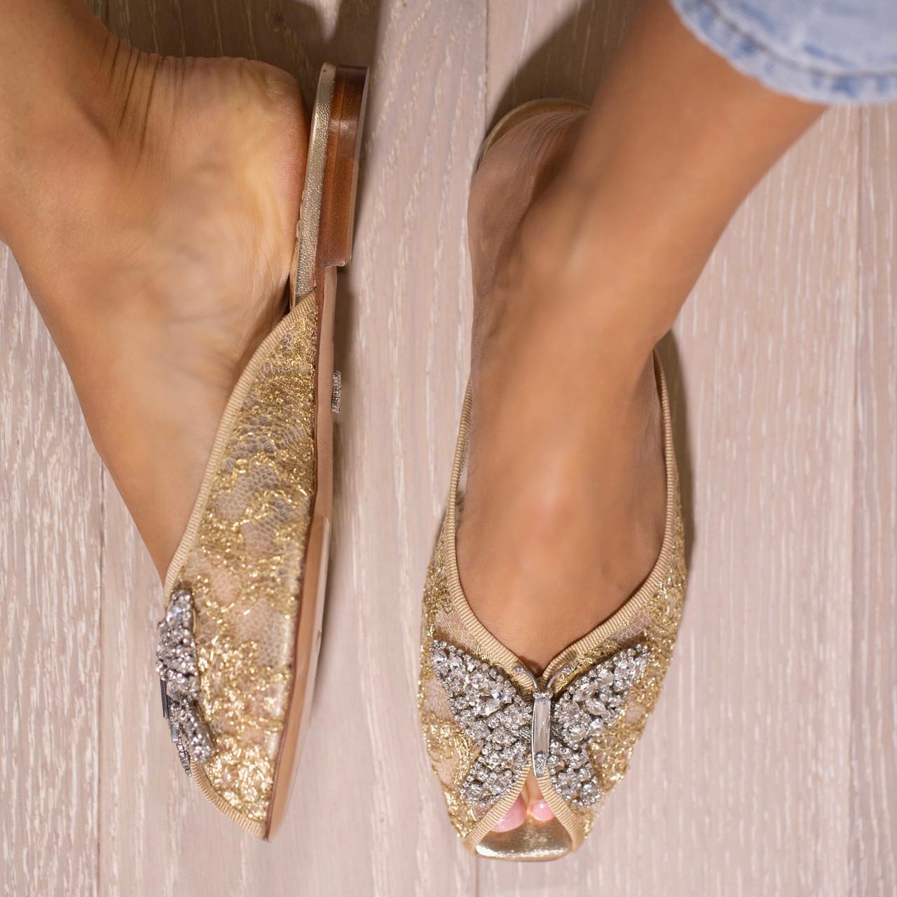 Luna Slider Gold Lace