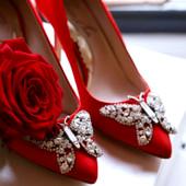 Emilia Farfalla Stiletto Red Satin