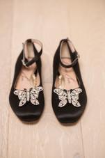 Anais Black Satin Ballerina