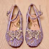Anais Lavender Thick Lace Ballerina