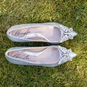 Eliana Ballerina Flat Pointy Silver Glitter