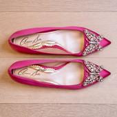 Eliana Ballerina Flat Pointy Dusk Pink Satin