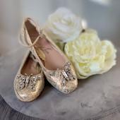 Anais Gold and White Monochrome Ballerina