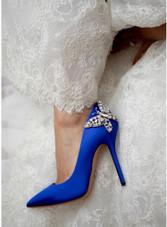 Ally Farfalla Stiletto Royal Blue Satin