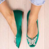 Liana Emerald Green Satin