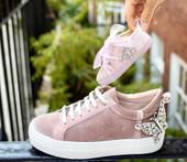 Baby Rocket Pink Velvet Sneaker