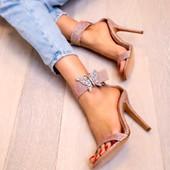 Portofino Embellished Pink Notturno Heel Sandals