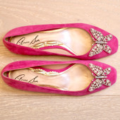 Carrie Ballerina Flat Bubble Gum Pink Suede