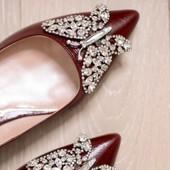 Eliana Ballerina Flat Pointy Burgundy Patent