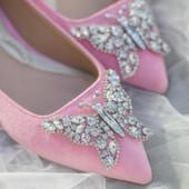 Eliana Ballerina Flat Pointy Bubblegum Pink Suede
