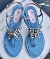 Capri Farfalla Blue Denim Sandals